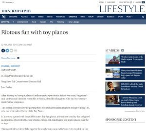 Riotous fun with toy pianos