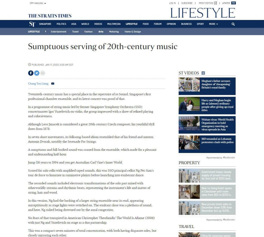 Sumptuous serving of 20th-century music