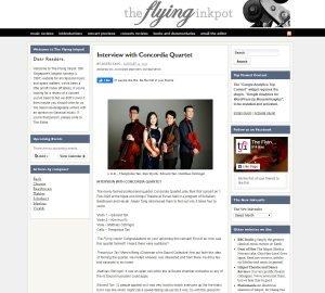 Interview with Concordia Quartet