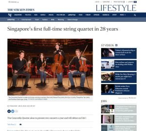 Singapore's first full-time string quartet in 28 years