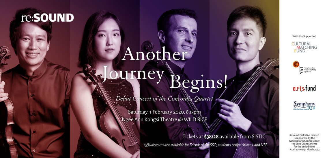 Another Journey Begins! Debut concert of the Concordia Quartet