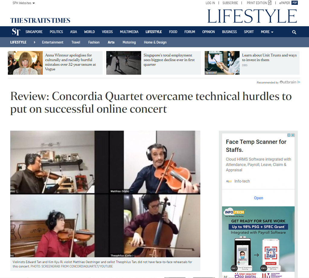 Review: Concordia Quartet overcame technical hurdles to put on successful online concert