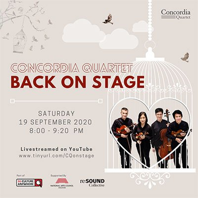 Concordia Quartet – Back on Stage
