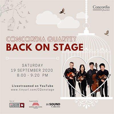 Concordia Quartet – Back on Stage