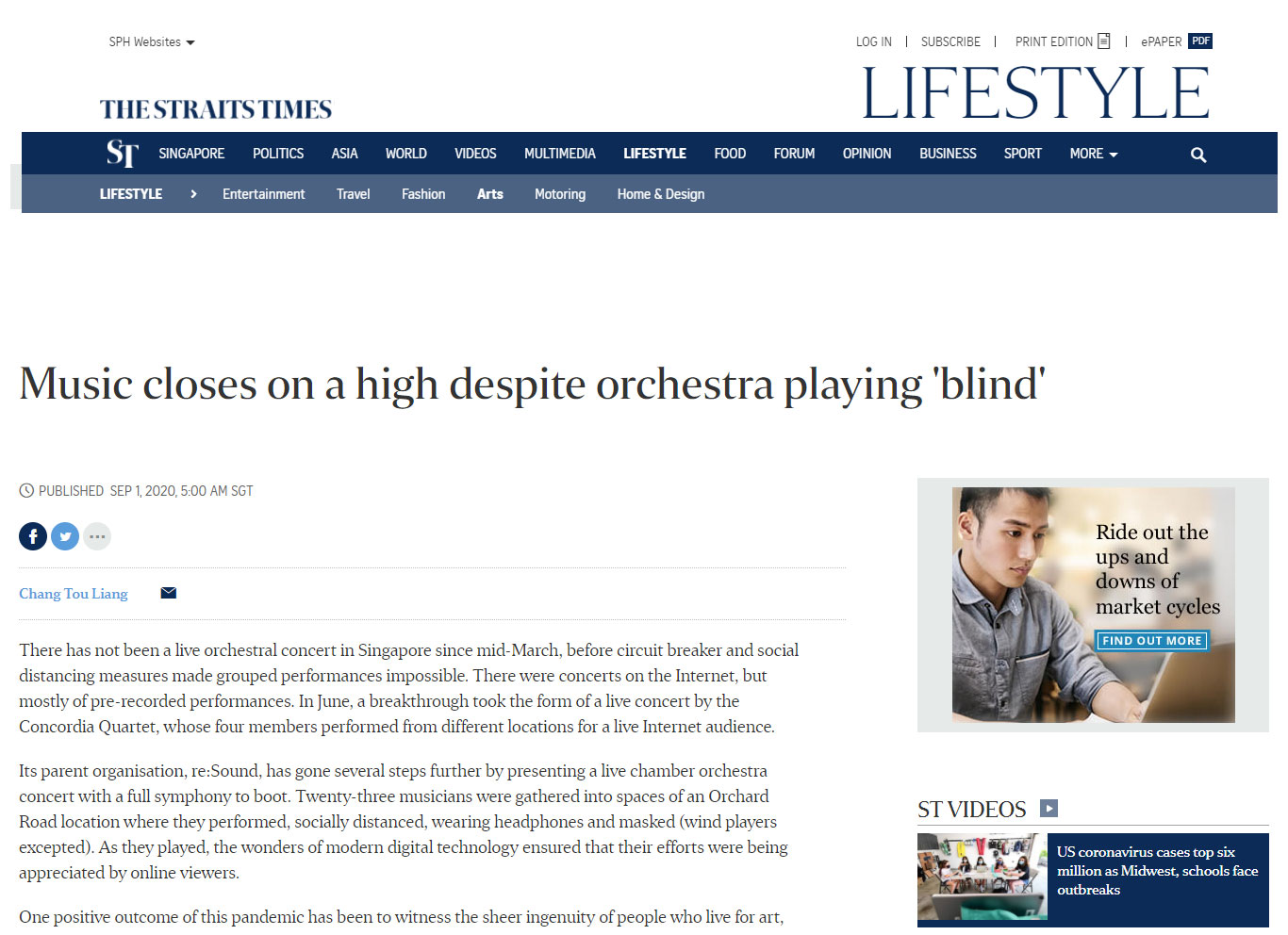 Music closes on a high despite orchestra playing 'blind'